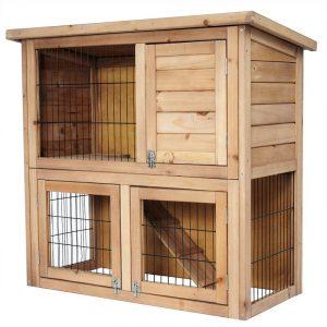 casa de madera para conejos enanos de exterior e interior