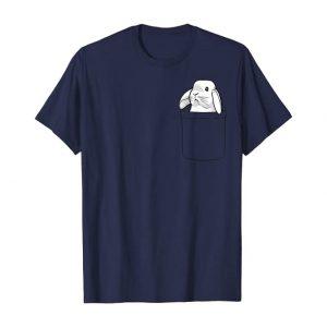 camiseta de conejos azul para mujer
