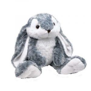 regalo original para niños conejo de peluche blanco y gris