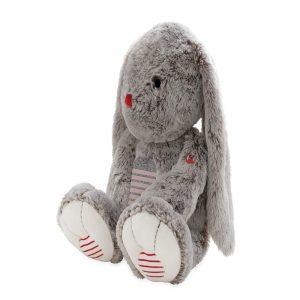 conejo de peluche gris tamaño XL