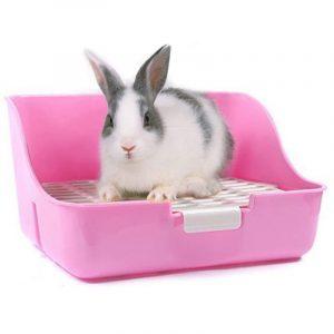 esquinero rectangular para conejos enanos