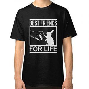 camiseta negra para hombre de conejos best friends