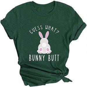 camiseta de mujer vintage verde de conejos