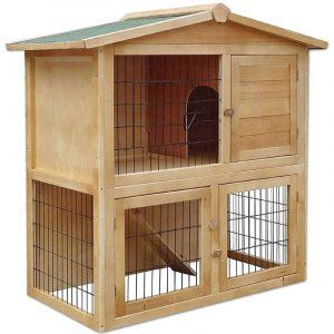 casa para conejos enanos de madera para exterior e interior Dibea