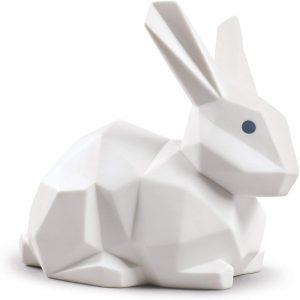 figura de porcelana conejo blanco decoración de hogar
