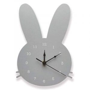 reloj de pared decorativo conejo gris