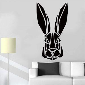 vinilo decorativo cabeza de conejo estilo moderno nórdico