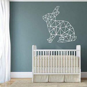 vinilo decorativo para pared conejo geometrico