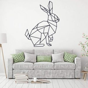 decoración de pared vinilo de conejo negro