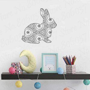 vinilo decorativo conejo de estilo nórdico